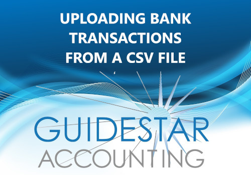 Uploading Bank Transactions from a CSV file